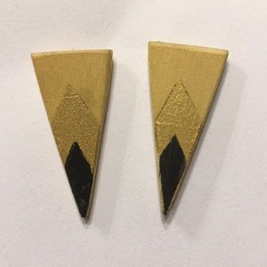 Jewelry - Black and Gold Fair Trade Earrings